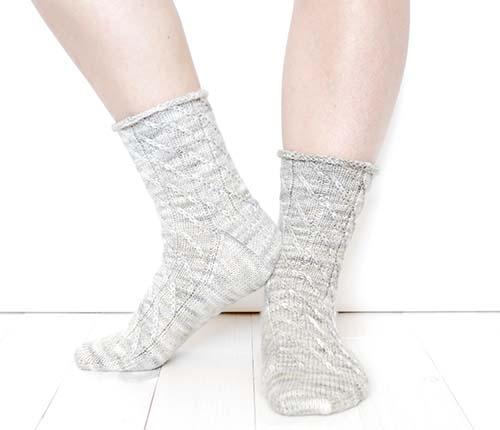 Cherry Swirl Socks