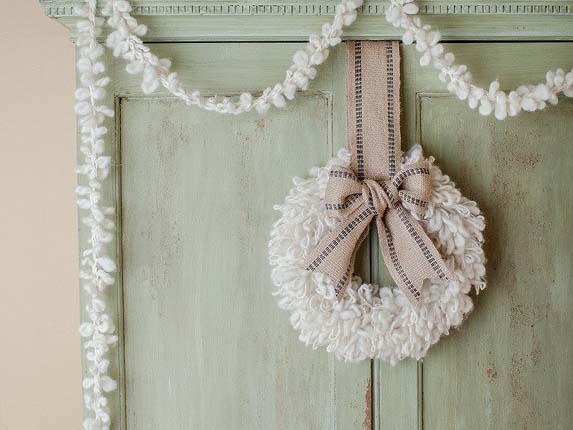 Woolly Wreath & Garland
